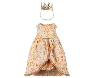Koninginnen jurk met gouden kroontje